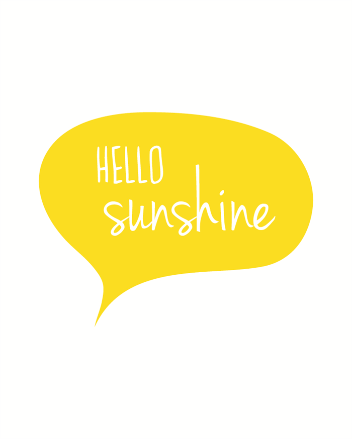 Hello Sunshine 8 X 10 Typography Art Print Modern Home