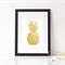 Faux Gold Foil Pineapple - 8x10' Professionally Printed