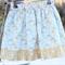 Girls Reversible Skirt Birds  Size 3