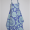 Nursing Cover for breastfeeding mums: Love bali gate in periwinkle & aqua
