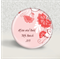 20 Wedding magnet favours - add your text - Pink Fan Flower