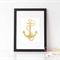 Faux Gold Foil Anchor - 8x10' Professionally Printed