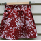 Size 4-5yrs girls skirt cherry blossom on red quilting cotton pleat skirt