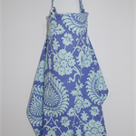 Nursing Cover for breastfeeding mums: Love bali gate in periwinkle & aqua