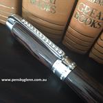Regal Chrome/African Wenge Crystal Encrusted Princess Pen
