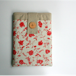 Tablet Case, Tablet Cover in Oatmeal Linen and French Florals.  Mother's Day
