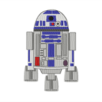 R2D2 in 2 Designs ~ With Heart and Without Heart ~ Filled Embroidery Design