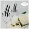 Mr. & Mrs. Champagne Glitter Glass Wedding Collection and Gift Box