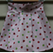 Size 1-2yrs girl's pink ladybird and clover pleat skirt 100% quilting cotton
