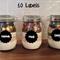 10 Scalloped shaped  Chalkboard Label Stickers
