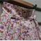 Size 2-3yr girl's cotton pleat skirt Japanese floral cotton in pinks apricot