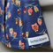 Size 3-4yrs girl's Japanese navy owl pleat skirt 100% quilting cotton