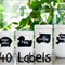 40 Assorted Fun Chalkboard Label Stickers - With a FREE liquid Chalk marker