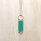 GREEN COLOUR BASICS SIMPLE SILVER CIRCLES TASSEL PENDANT NECKLACE