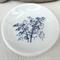 Porcelain bamboo ring dish, candle holder, ceramic bowl. Blue bamboo