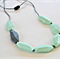 Silicone Teething Necklace -  Flat Geo  - Long