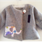 baby girls Jacket up-cycled wool with cotton lining
