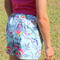 Girl's Size 2 - 14 available Blue Floral Shorts
