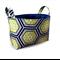 Fabric Storage Organiser Bin Basket -  Navy and Olive Green