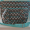 Mini Chevron and Gray Nappy Bag with Long Removable Adjustable strap and zip