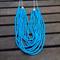 Blue multi strand beaded necklace