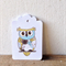 Gift Tags - set of 10 - blue and green owls