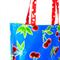 Beach Pool Market Bag - Oilcloth - Cherries on blue