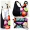 Hobo Handbag Purse & Wristlet SET in Colourful Floral Echino Fabric
