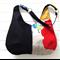 Hobo Bag Purse in Wild Bird Echino and Black Fabric for Ladies