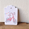 Gift Tags - set of 10 - girls bicycle