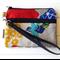 Wristlet Pouch Purse in Wild Bird Echino Fabric Design Handmade