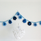 Blue Aqua Flower Acrylic Crochet Garland Bunting