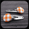 Orange and White Gingham: Small Snap Clips