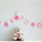 Baby Pink Acrylic Crochet Garland Bunting