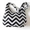 Chevron in Black and White Ladies Hobo Handbag Purse