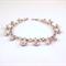 Karen Hill Tribe Swarovski Crystal fine silver charm bracelet