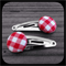 Red and White Gingham: Small Snap Clips