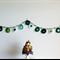 Green White Acrylic Crochet Garland Bunting