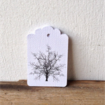 Gift Tags - set of 10 - tree silhouettes
