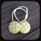 Yellow and White Gingham: 23mm Hair Elastics