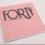 Handmade Birthday Card - Forty and Fabulous - Salmon