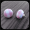 Baby Pink and White Gingham: Small Studs