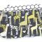 Makeup Purse - Giraffes - Black - Grey - Yellow - Spots - Free Shipping/Postage