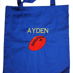 Library bag - Personalised Boys football