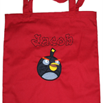Library bag - Personalised Boys angry birds