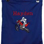 Library bag - Personalised Boys Motorbike