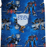 Library bag - Personalised Boys Transformers
