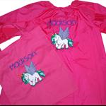 Art Smock & Matching library bag - Personalised Girls - Unicorn