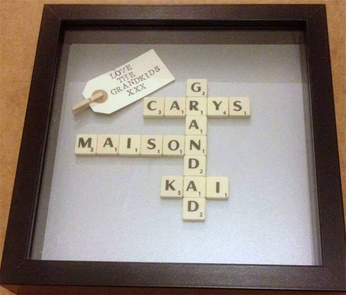 PERSONALISED SCRABBLE ART FRAMES FOR GRANDPARENTS | Scrabble Art by ...