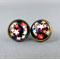 Stud Earrings - Bright Stars Glass Cabochon